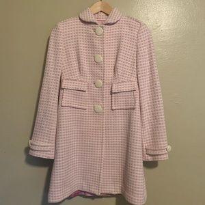 Banana Republic | Pink & Cream Tweed Coat | XS